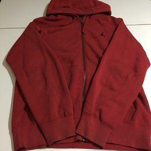 Nike Air Jordan Men Small Red Sweatshirt Hoodie